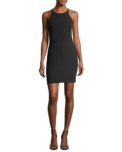 Bermuda Halter Mini Sheath Cocktail Dress