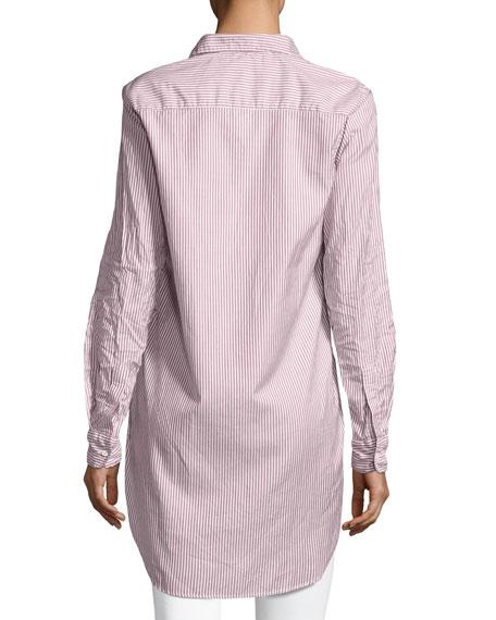 Grayson Long-Sleeve Button-Front Striped Poplin Shirt