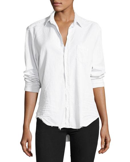 Frank & Eileen Long-Sleeve Button-Front Denim Shirt