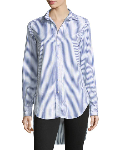 Frank & Eileen Grayson Striped Button-Down Long-Sleeve Cotton