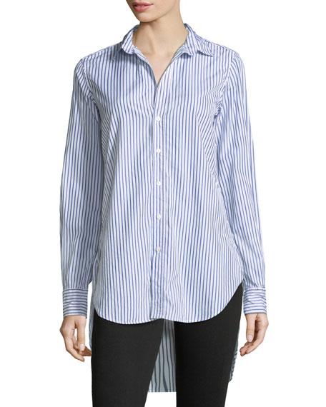 Grayson Striped Button-Down Long-Sleeve Cotton Shirt