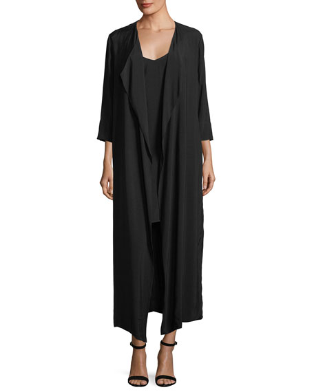 Black Halo Cassini Mini Slip Dress w/ Duster