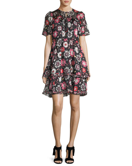 kate spade new york casa flora flutter-sleeve pleated