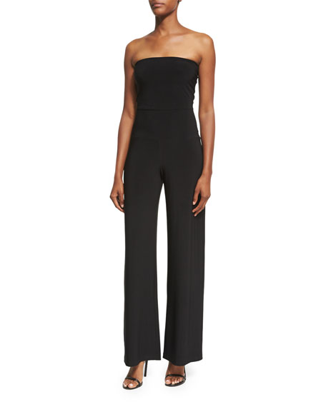 Strapless Jersey Wide-Leg Jumpsuit