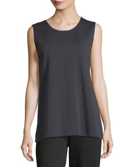 Caroline Rose Long Knit Wool Tank, Plus Size