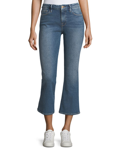 FRAME Le Crop Mini Boot Mid-Rise Jeans and