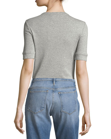 Et Moi Crewneck Short-Sleeve Fitted Tee