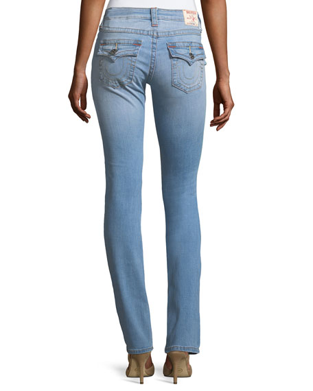 Slim-Straight Flap-Pocket Jeans
