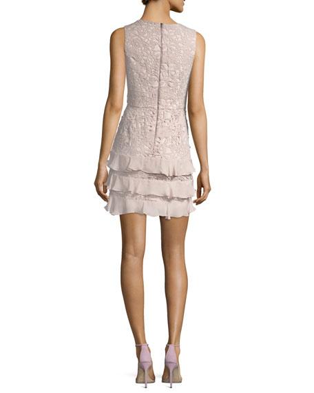 Zahara Combo Sleeveless Lace Cocktail Dress