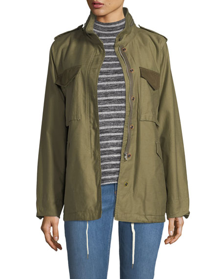 Rag & Bone Ash Field Zip-Front Utility Jacket