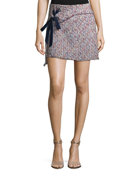 Carrie Tweed Pencil Mini Skirt