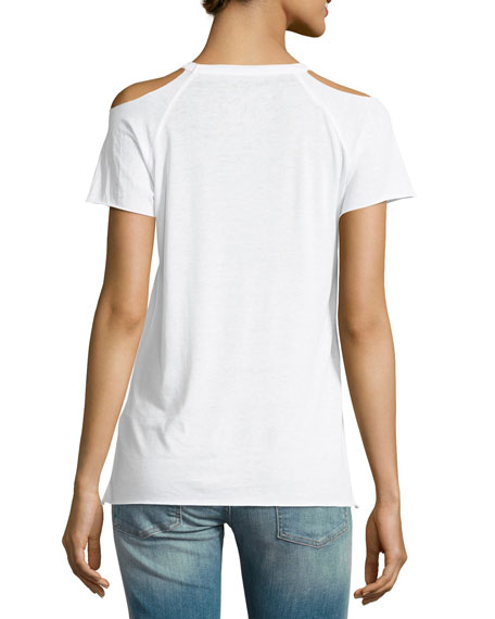 Lover Cold-Shoulder Graphic Tee