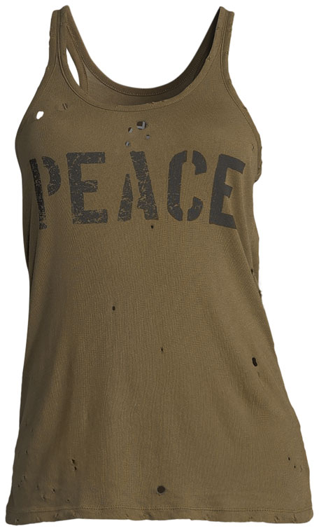 Peace Graphic Distressed Tank