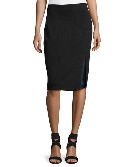 Rag & Bone Alyssa Double-Layer Knit Pencil Skirt
