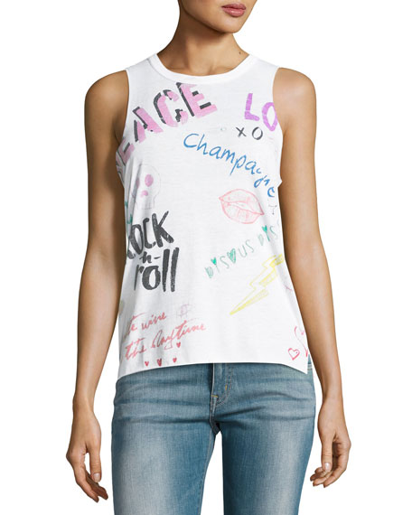 Chaser Sketchy Graphic Muscle Tank