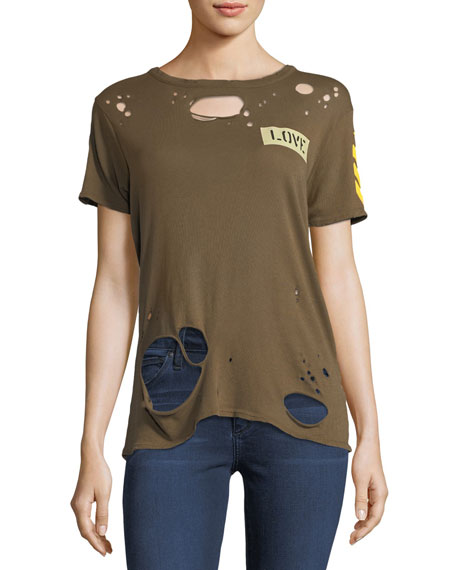 Chaser Major Love Distressed Tee