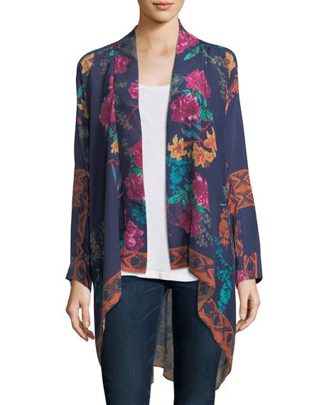 Johnny Was Wilimina Floral-Print Kimono