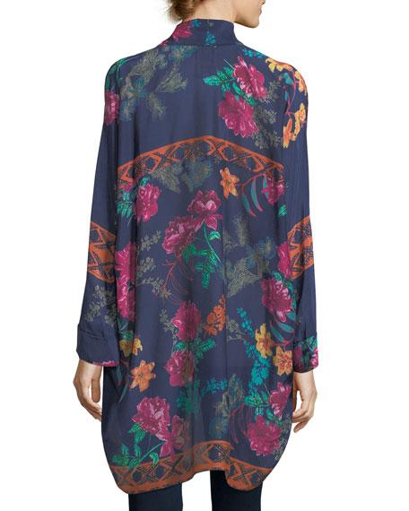 Wilimina Floral-Print Kimono, Plus Size