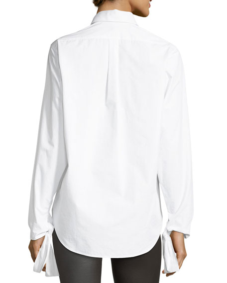 Thomas Chemise Blanche Long-Sleeve Tie-Cuff Shirt