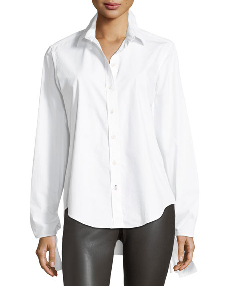 Joseph Thomas Chemise Blanche Long-Sleeve Tie-Cuff Shirt