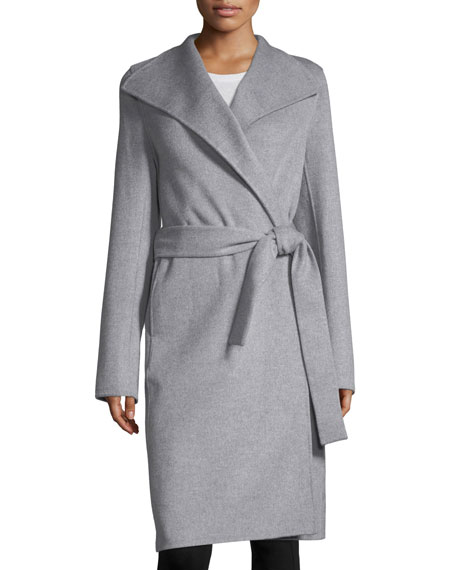 Joseph Double-Faced Wool-Blend Wrap Coat