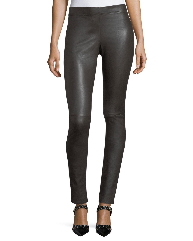 09731767809027 Joseph Stretch-Leather Leggings | Neiman Marcus