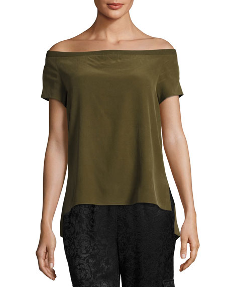 Hadley Off-the-Shoulder Silk Top