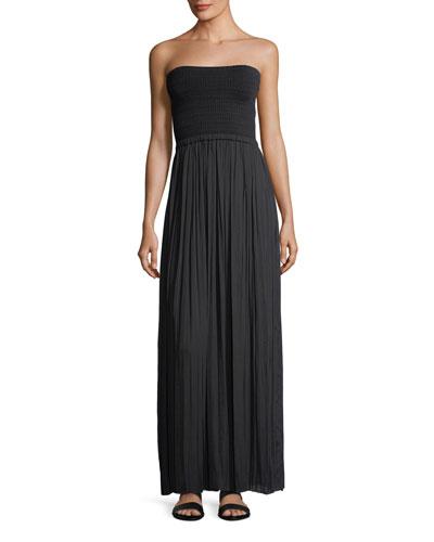 Emmaline Strapless Knit Combo Maxi Dress