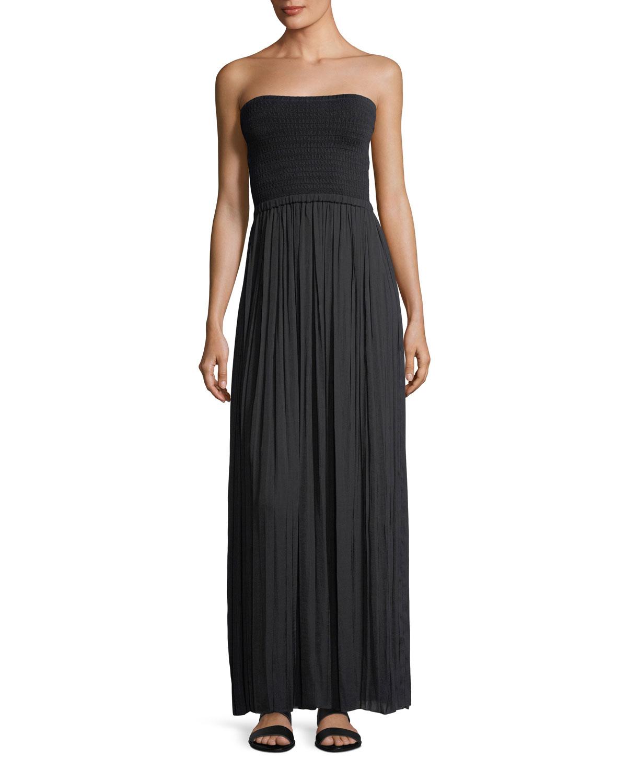 Elizabeth & James Emmaline Strapless Knit Combo Maxi Dress ...