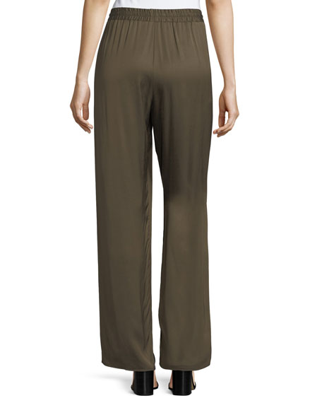 Relaxed Drawstring Pajama Pants