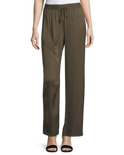Relaxed Drawstring Pajama Pants