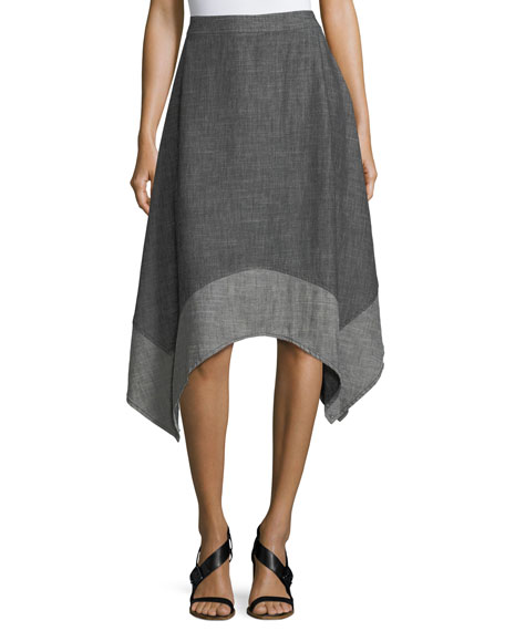 Chambray Handkerchief A-Line Skirt