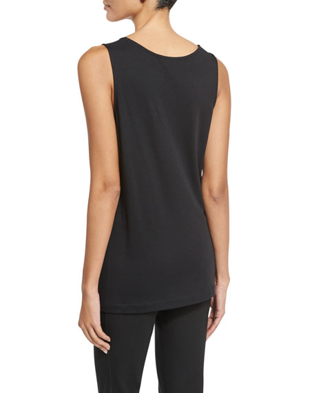 Scoop-Neck Cotton Interlock Tunic/Tank