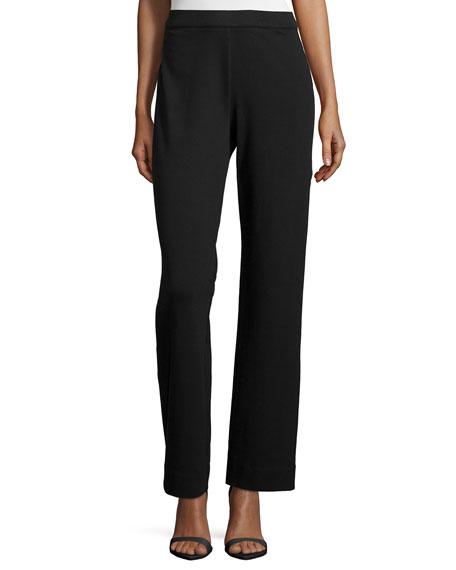 Joan Vass Stretch Interlock Zip-Front Jacket, Sequined Trim