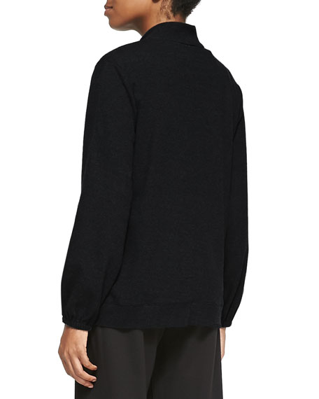 Mock-Neck Zip-Front Jacket