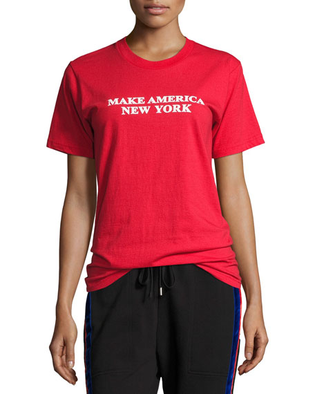 Make America New York Cotton T-Shirt