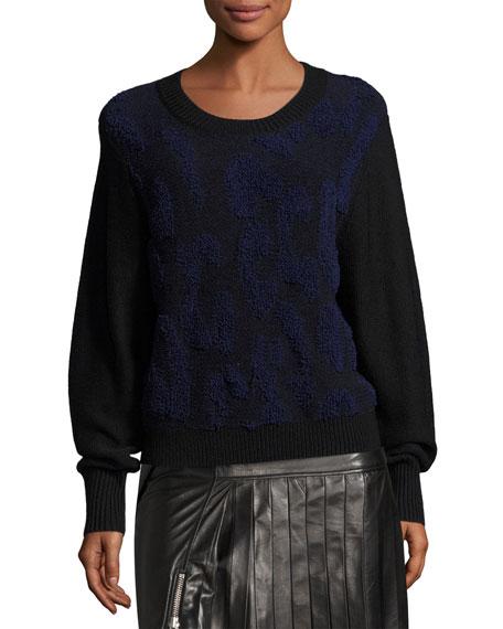 Nisa Long-Sleeve Knit Sweater