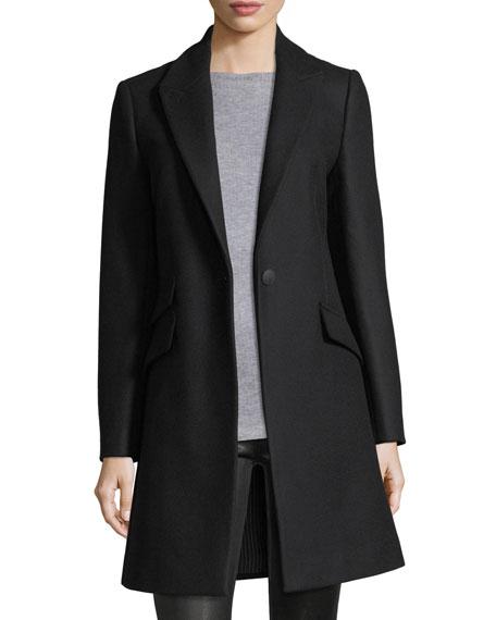 Rag & Bone Duchess One-Button Tailored 3-Pocket Coat
