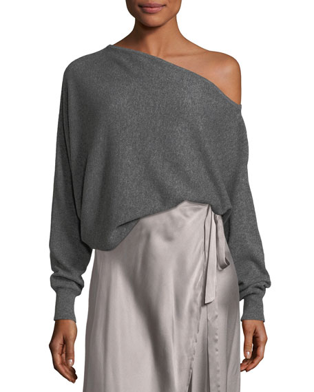 Joie Helice One-Shoulder Cashmere Pullover Sweater