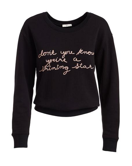 Rikke B Crewneck Cotton Pullover Sweater