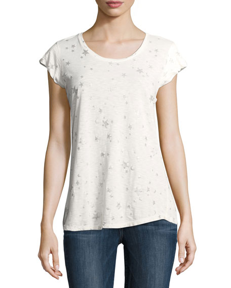 Joie Dillon Scoop-Neck Allover Stars & Moons Cotton