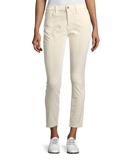 FRAME Le Velveteen High-Rise Skinny-Leg Jeans