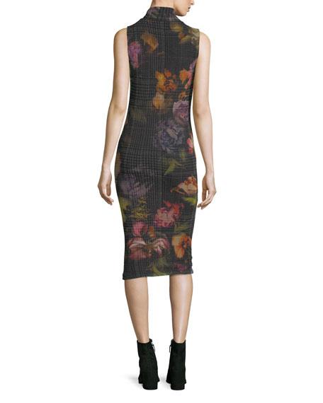 Sleeveless Tie-Neck Menswear Gardenia Tulle Dress