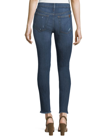 Blondie Frayed-Edge Skinny Jeans