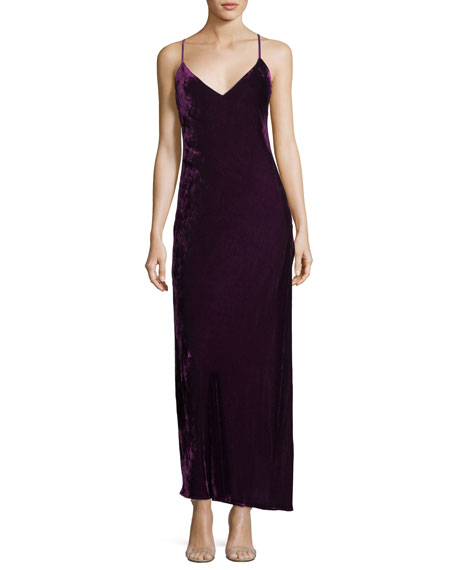 Kate Velvet V-Neck Cocktail Slip Dress