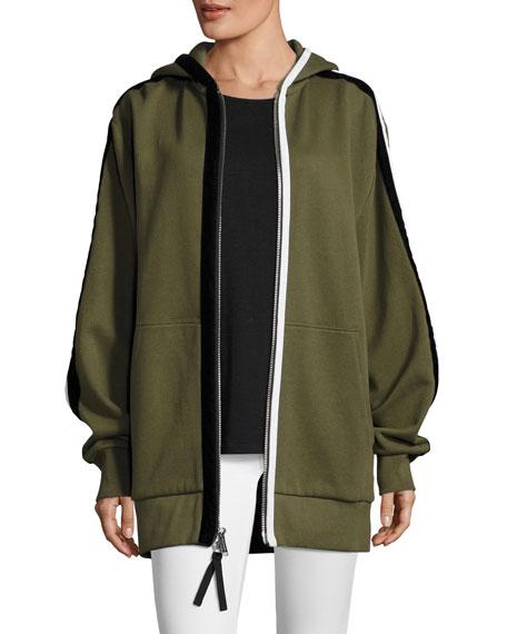 Public School Leta Hooded Oversized Jacket w/ Striped