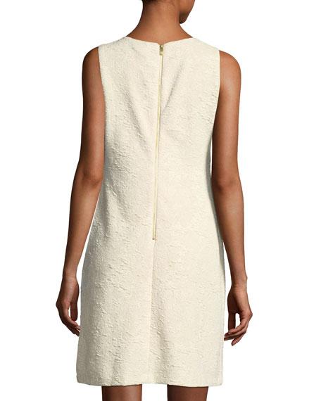 Metallic-Knit Jacquard Shift Dress