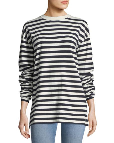 Cashmere Passiro Striped Long-Sleeve Sweater