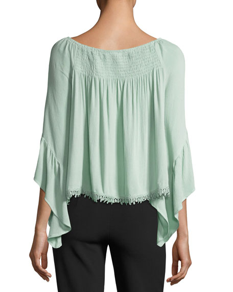 Anne Bell-Sleeve Blouse