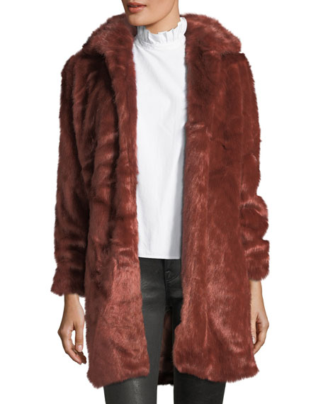 Faux-Fur Open-Front Coat